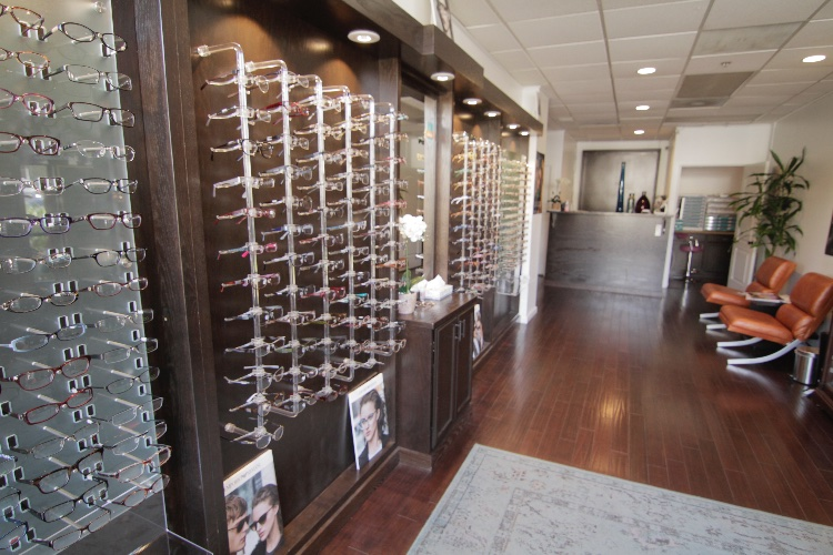 Modern Eye Center with exam room and office: 1 floor. Office recently remodeled, very modern retail store and doctors office.