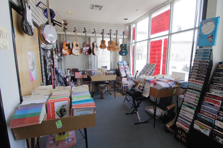 Music Lessons Studio and Instruments Store: Music Center with studios for lessons with music instruments and Music Store. 9 rooms that can be used by production. Business Hours: Mon-Thu (1:30PM-7:30PM), Fri (1:30PM to 6PM), Sat (10AM to 5PM). NOTE: The closedown is allowed for extra pay. The rates stated are for non-business hours only. In a busy season (like Christmas), in case of interruption of business, depending on the scale of the production - the rates vary: student $100-$500, independent $200-$700, commercial $500+.