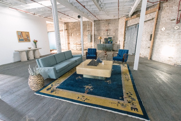 Industrial Warehouse Space with Multiple Spaces and White Cyc: 2nd Floor. A historic building. Attributes include a Living room, a Parisian apartment, Morrocan wall texture, Brick Walls, Checkered Room, Glam (Makeup Rooms), Industrial Loft, Tuscan Room and a Work Station. The space has been especially configured for photo + film productions and can easily feel like multiple locations under one roof. The space is great for all kinds of productions: commercials and advertising, TV, films, photography, e-commerce, cooking shows, fitness videos, product photography etc.