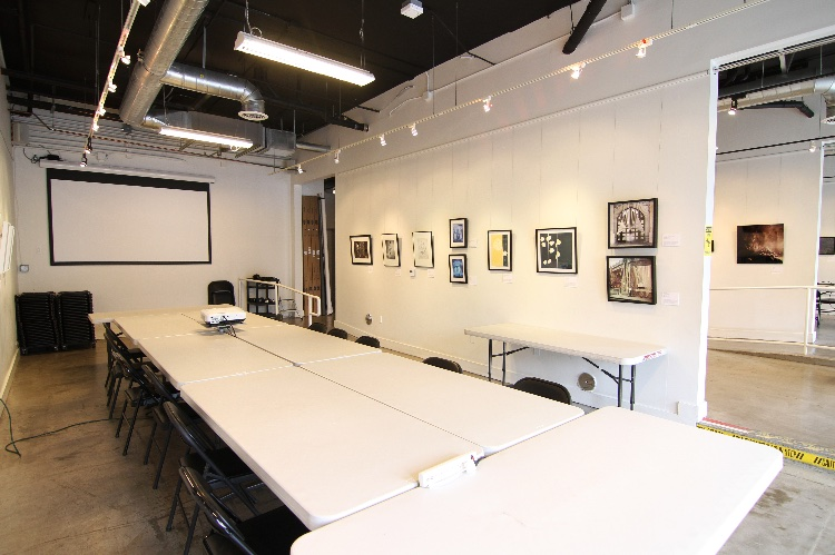 Photography Learning Center with Classrooms and Art Gallery: 2 classrooms and a middle room with a kitchenette. 2 large bathrooms. Hours 10AM-6PM. We have classes at night and the weekends, but are available most days and available after classes end at 10 pm.